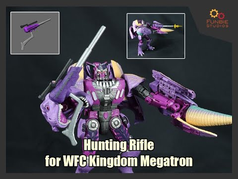 Funbie Studios 3D Printed Hunting Rifle for WFC Kingdom Megatron