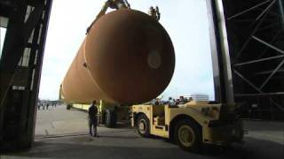External Fuel Tank for Last Shuttle Mission Moves to VAB