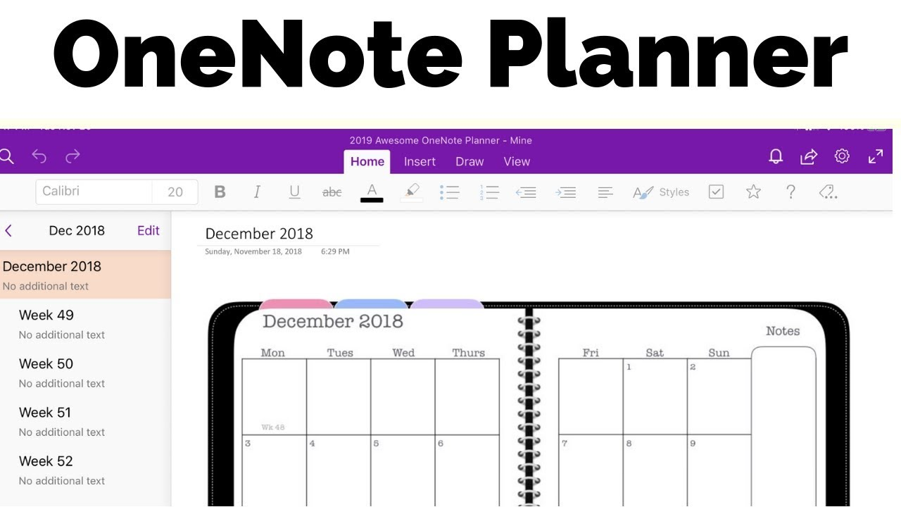 photograph about Full Focus Planner Pdf named OneNote Planner - The Amazing Planner for Microsoft OneNote