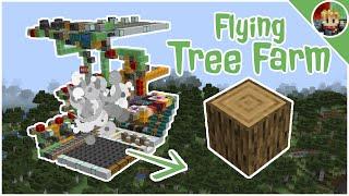Minecraft: I Built a Flying Tree Farm in Minecraft 1.16.1+