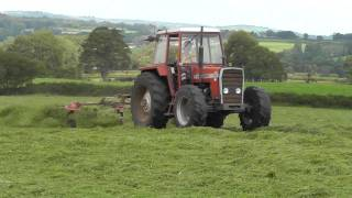 Silage 2011 - Tedding with Massey-Ferguson 290