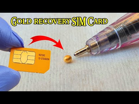 Gold Recovery From SIM Card Cell Phones 📱Sim Cards Recycling Gold📱