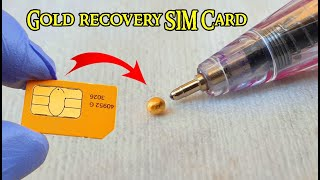Gold recovery from SIM Card cell phones Sim cards recycling gold