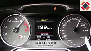 Audi S4 3.0 TFSI Acceleration 0-220 Km/h with 333 (HP)
