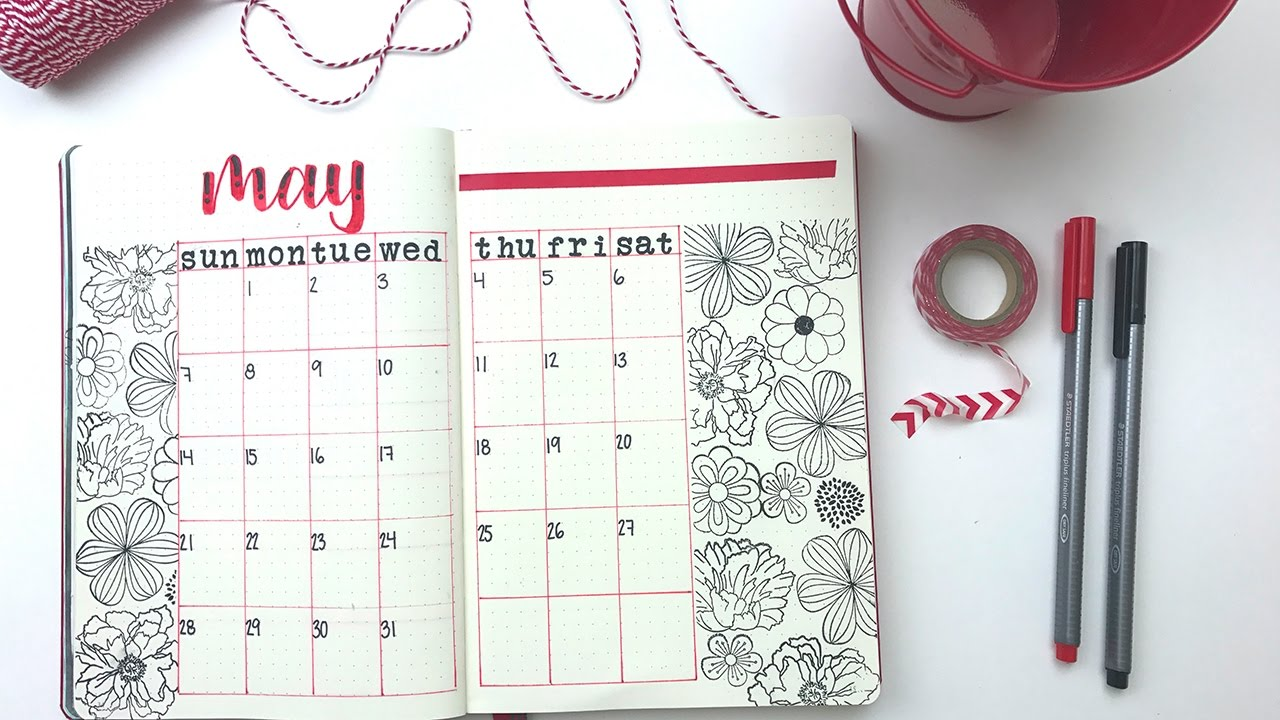 April Calendar Picture Ideas : How to bullet journal calendar ideas youtube