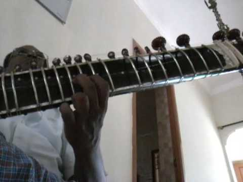 Learn sitar, Raag charukeshi, Rupak Taal, my own simple composition by sitar Eesanji