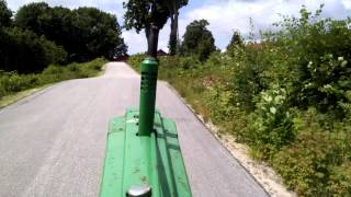 John Deere B climbing Shiloh Hill in 6 th gear.
