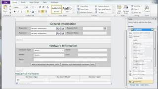 Create and Design Form in MS Infopath 2010 part 1
