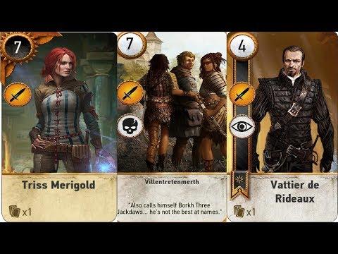 Triss Merigold Card , Villentretenmerth Card , Vattier De Rideux Card , The Witcher 3 : Wild Hunt