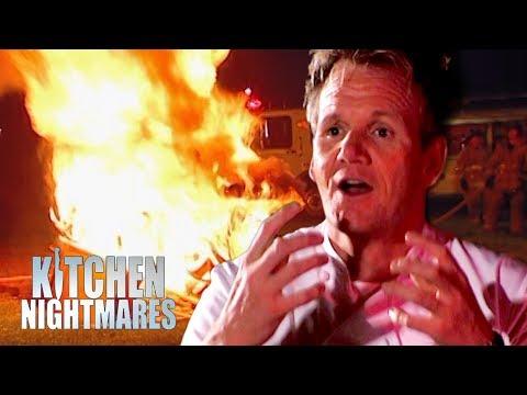 Gordon Sets Fire to the Restaurant | Kitchen Nightmares