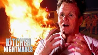 Gordon Sets Fire to the Restaurant | Kitchen Nightmares