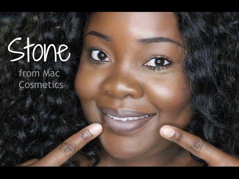 mac stone lipstick on dark skin youtube. Black Bedroom Furniture Sets. Home Design Ideas