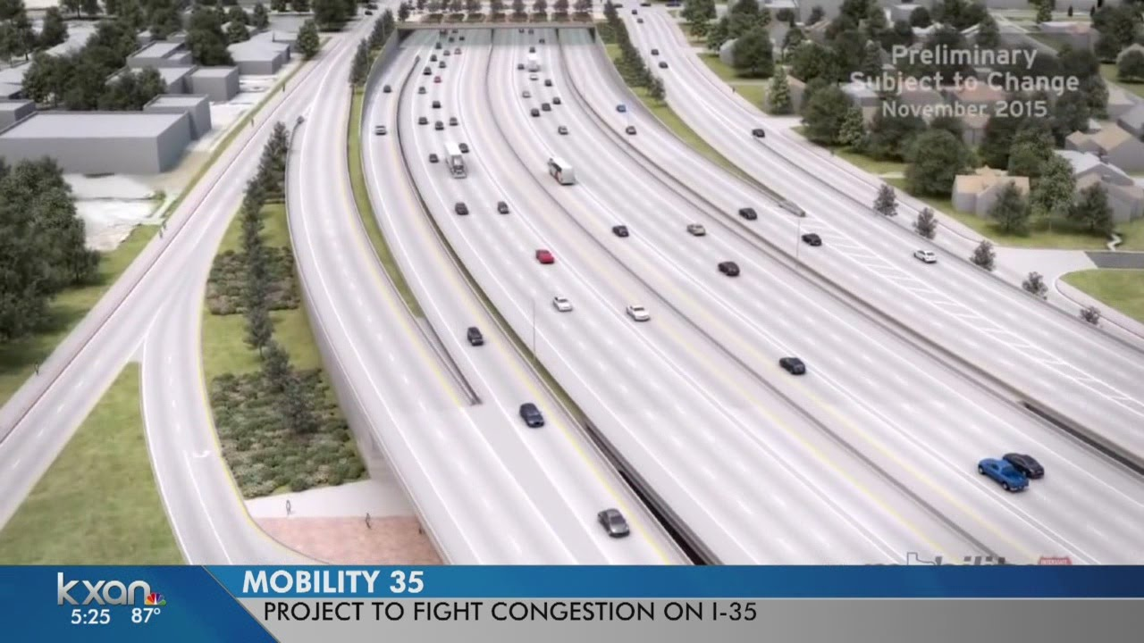 Plans to alleviate traffic on I-35 through Austin includes toll lanes
