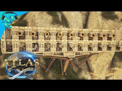 ATLAS - Testing Ship Storage Defenses in the Hidden Cove and Pirate Fortress Base Progress! E40