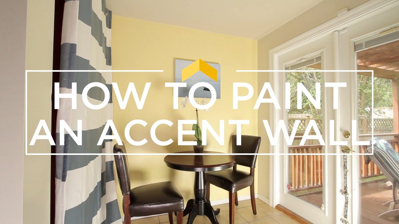 How to Paint an Accent Wall - YouTube
