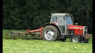 Tedding for Silage with Massey Ferguson & Vicon - 2015