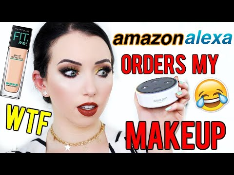 AMAZON ALEXA PICKS MY MAKEUP... DID SHE KNOW?!