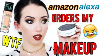 AMAZON ALEXA ORDERS MY MAKEUP?! If you're new, join the #baerrito f...
