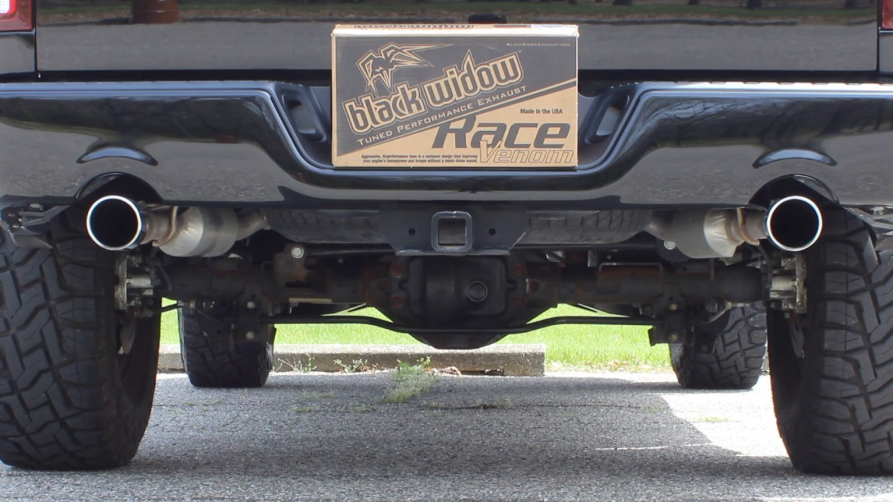 black widow exhaust race venom ram1500