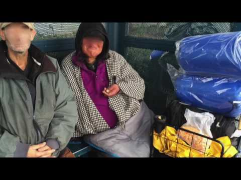 Distributing Sleeping Bags to the Homeless in San Francisco Bay Area