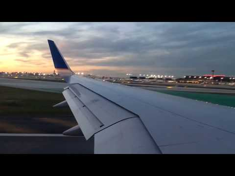 United Airlines B757-300 | Sunset Takeoff from Chicago O'Hare.