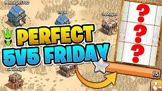 FINALLY GETTING A PERFECT RANDOM SPINNER WAR!! - 5v5 Friday - Clash of Clans