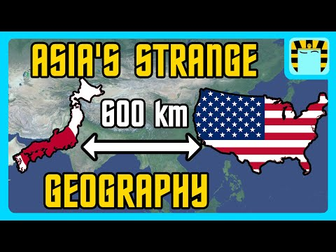 How Japan Is 600 Kilometers From The USA - Asia's Strange Geography