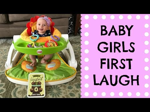 AVERY LAUGHING FOR THE FIRST TIME : THREE MONTHS OLD