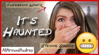 24 Hours in a HAUNTED Hotel Room! NOT A SKIT / AllAroundAudrey