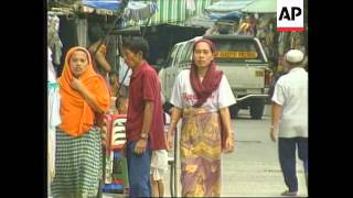 PHILIPPINES: MANILA: MUSLIMS STAGE PROTEST OUTSIDE US EMBASSY