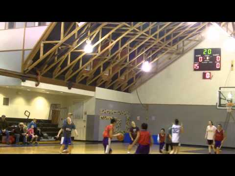 Half-Court Buzzer Beater (Orcas Christian School Basketball Practice 01/30/2013)