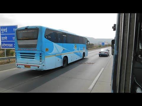 MSRTC SHIVNERI BUS ON MUMBAI PUNE EXPRESSWAY