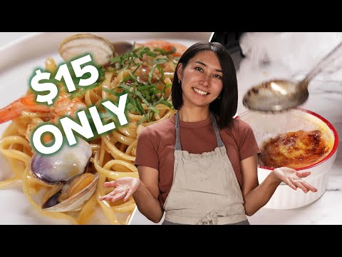 Can This Chef Make A Three-Course Meal For Two People With $15? • Tasty