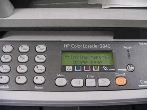 hp color laserjet 2840 printer youtube