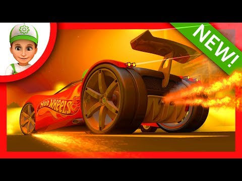 Thumbnail: Police chase bandits on Hot Wheels and Blaze and the Monster Machines part 2 - Cartoons for children