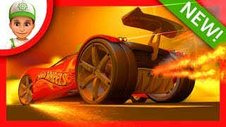 Police chase bandits on Hot Wheels and Blaze and the Monster Machines part 2 - Cartoons for children