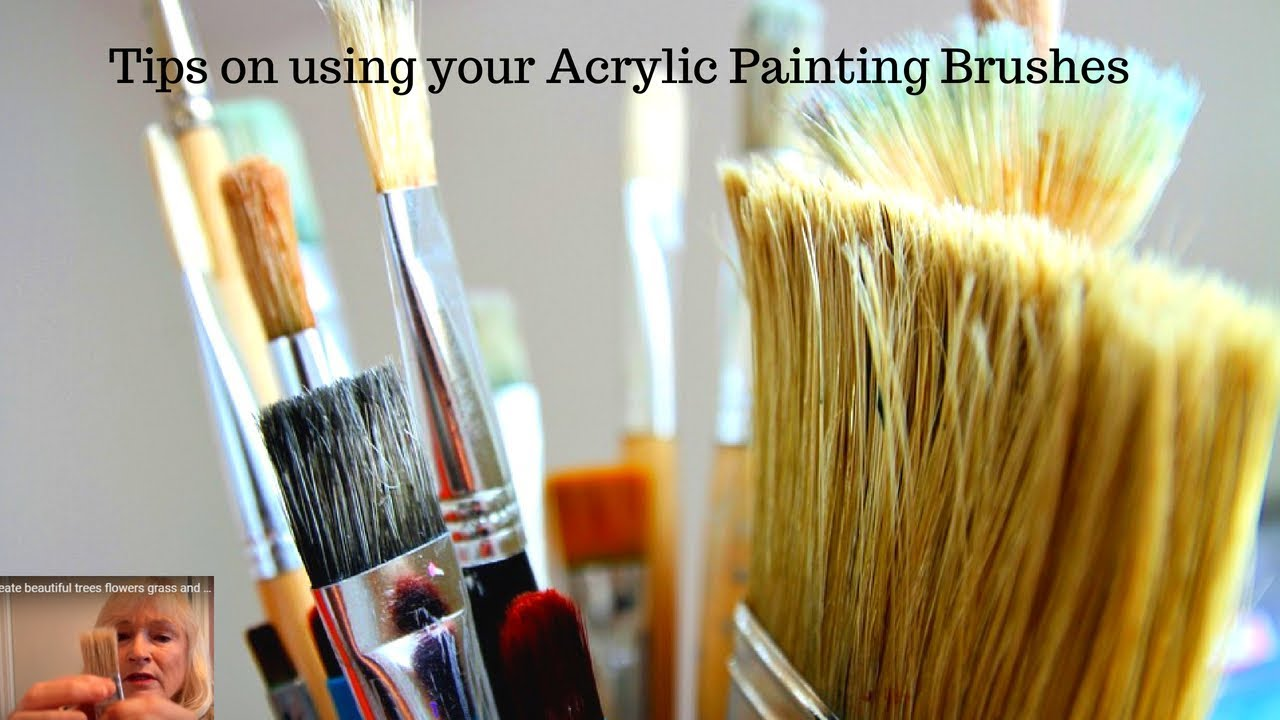 Acrylic painting tips and tricks on using your brushes 4 for Learn to paint with acrylics