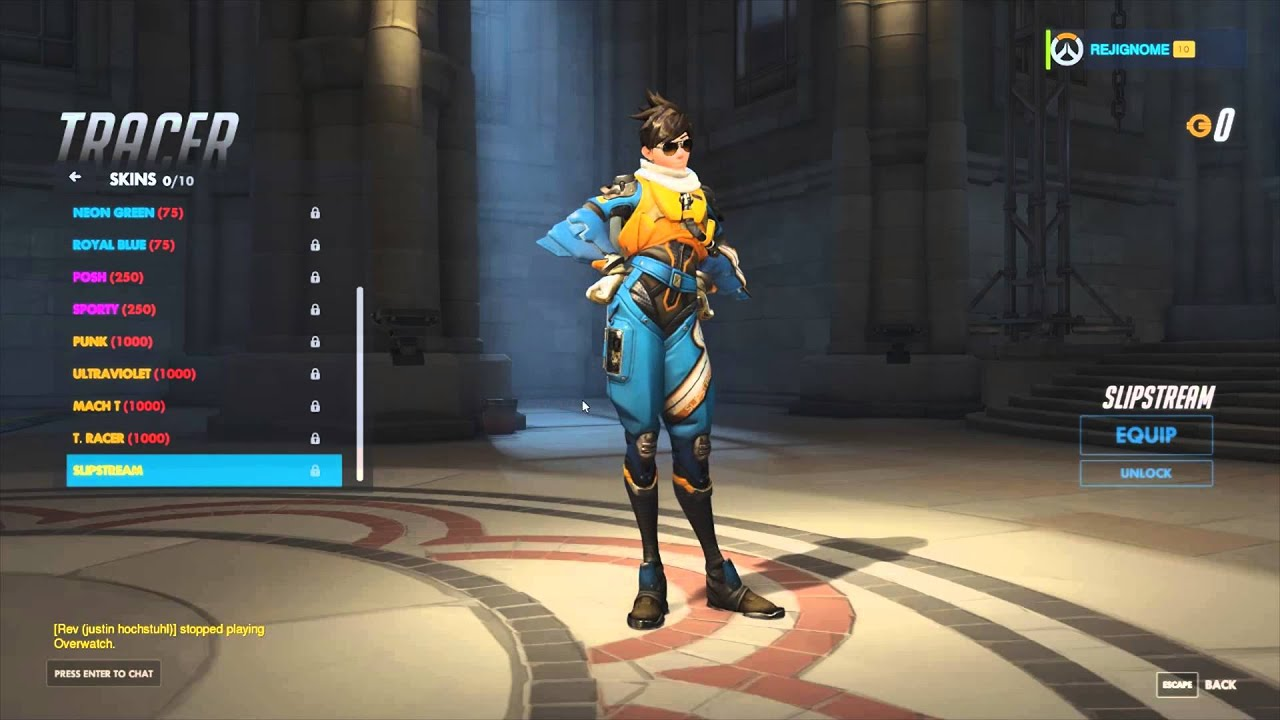 Tracer All Skins Emotes And Animations Youtube