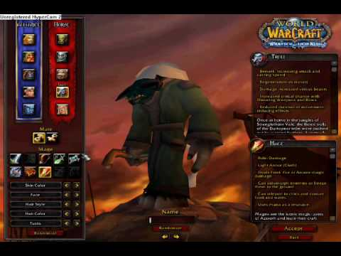 More world of warcraft model edits and race changes