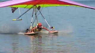 Skip Landing a Hang Glider in the Water