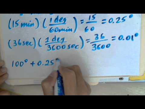 Convert Degree Minute Second (DMS) to Degree and Radians