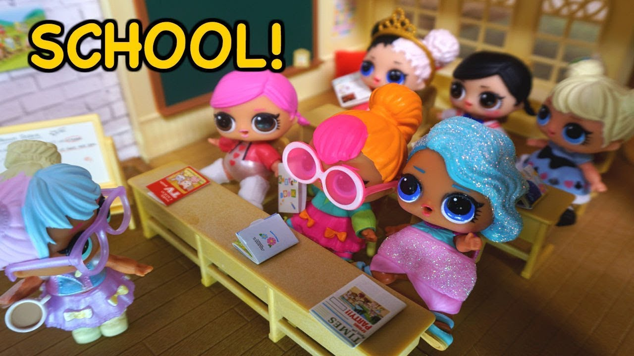 Barbie Helps Lol Surprise Dolls Get Ready For Their First