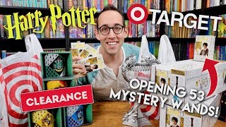 HARRY POTTER SHOPPING HAUL - OPENING 53 MYSTERY WANDS!