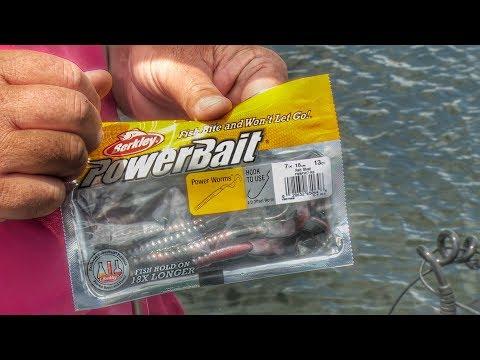 Ripping Jig Worms Through Grass for Bass