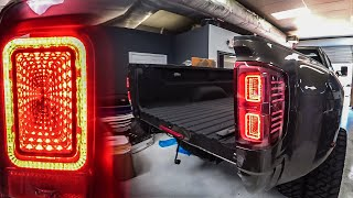 THESE LIGHTS FOR THE DUALLY ARE EPIC (Infinity Tail Lights)