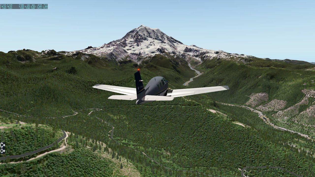 X Plane 10 Vfr Tacoma To Mount Rainier Washington Part 2