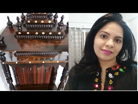 My Pooja Mandir Deep Cleaning 2018 |How To Polish(DIY) Wooden Temple At Home|Shraddha Dumbhare Vlog