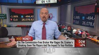 Charles Schwab fees cuts won't stave off Robin Hood, disruption in broker industry, Jim Cramer says