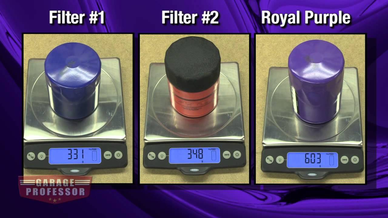 Royal Purple Oil Review >> The Garage Professor Oil Filters We Put Particles Filters To The Test