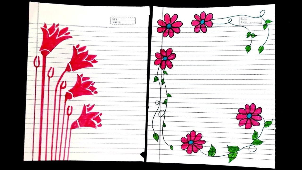 flower assignment front page design border
